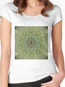 Pine needle mandala Women's Fitted Scoop T-Shirt