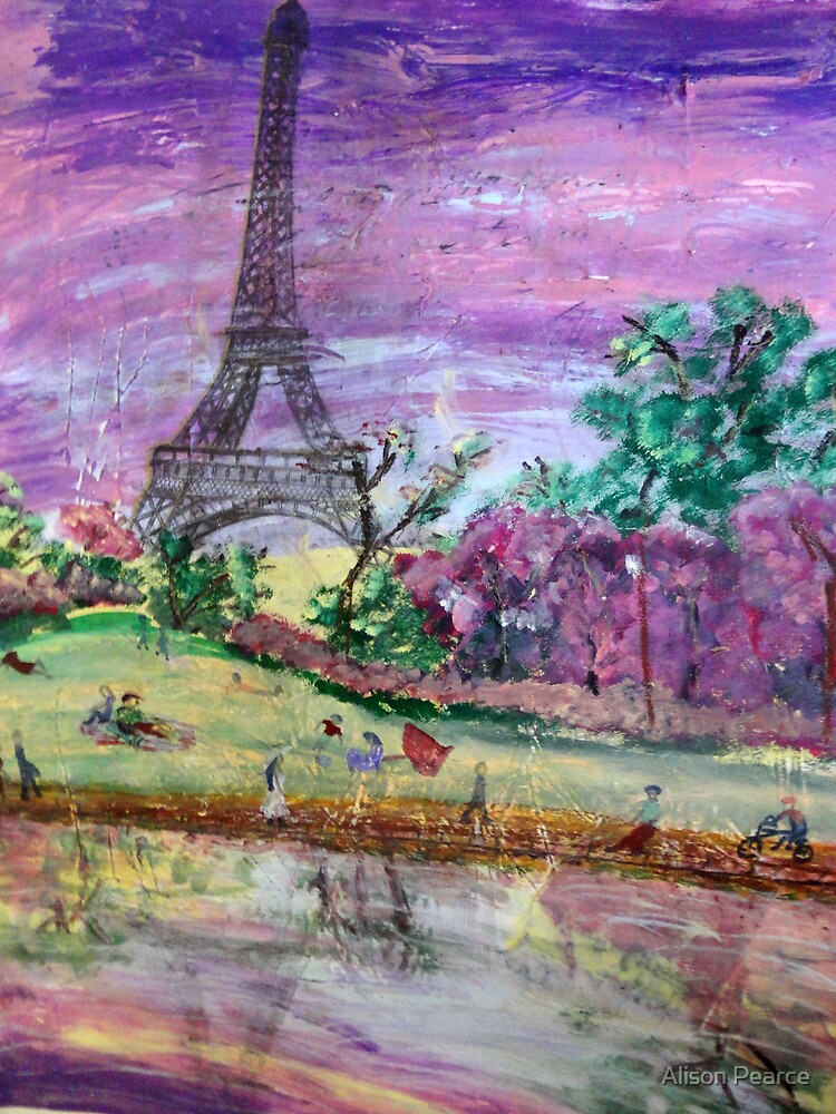 Spring Dusk Along the River Seine by Alison Pearce
