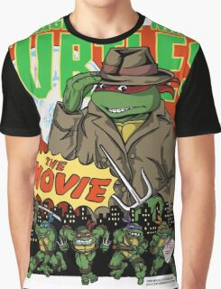 Ninja Turtles Retro First Movie 1990 Raphael Graphic T-Shirt