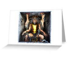 "Ecce Homo 117 "" THE ONE EYED KING "" Greeting Card"
