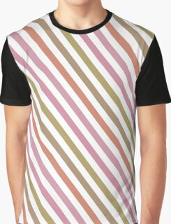 Pink Roses in Anzures 2 Stripes 1A Graphic T-Shirt