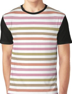 Pink Roses in Anzures 2 Stripes 1H Graphic T-Shirt