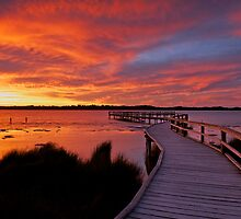 Lake Clifton Sunset by Peter Hodgson