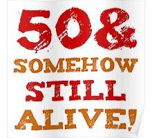50th Birthday Gag Gift Poster