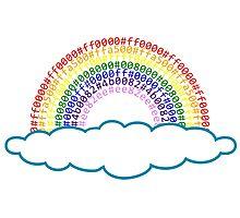 Hex Rainbow Photographic Print