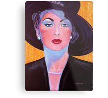 Glamorous Lady from the Fifties Metal Print