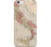 Vintage Map of Italy (1883) iPhone Case/Skin