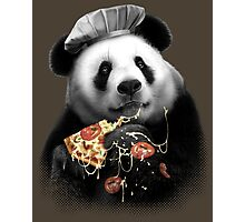 PANDA LOVES PIZZA Photographic Print
