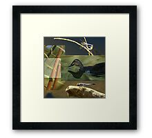 Wetlands Collage Framed Print