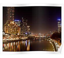Melbourne in fog Poster