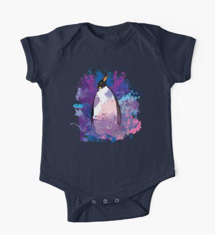 Watercolour Penguin One Piece - Short Sleeve