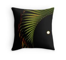 The moon and the palm... Throw Pillow