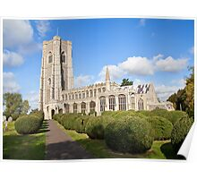 Lavenham church (St Paul and St Peter) Poster