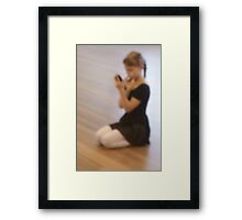 Ballet dreams Framed Print