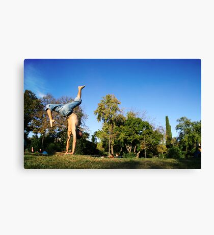 Dinamic Handstand in Barcelona Canvas Print