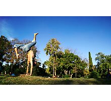 Dinamic Handstand in Barcelona Photographic Print