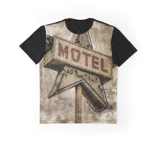 Vintage Grunge Star Motel Sign Graphic T-Shirt