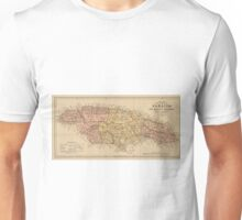 Vintage Map of Jamaica (1893) Unisex T-Shirt