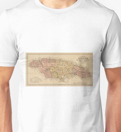 Vintage Map of Jamaica (1893) Unisex T-Shirt