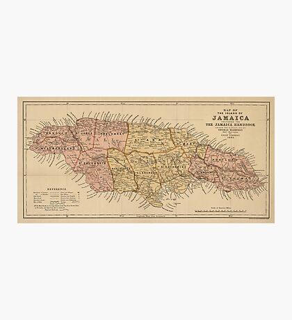 Vintage Map of Jamaica (1893) Photographic Print