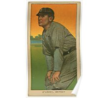 Benjamin K Edwards Collection Charley O'Leary Detroit Tigers baseball card portrait 001 Poster