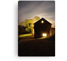 Devon Cottage At Night Canvas Print