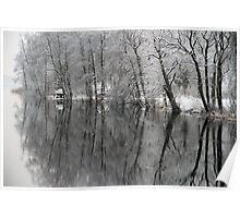 Mirror pool, Sweden, EU Poster