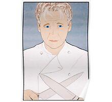 Chef Gordon Ramsay Portrait Poster