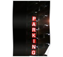 Lighted Parking Poster