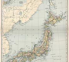 Vintage Map of Japan (1892) by BravuraMedia