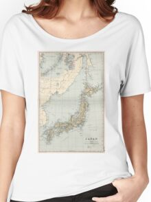 Vintage Map of Japan (1892) Women's Relaxed Fit T-Shirt