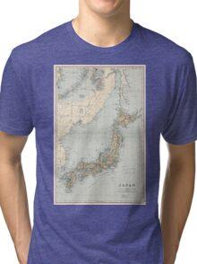 Vintage Map of Japan (1892) Tri-blend T-Shirt