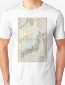 Vintage Map of Japan (1892) Unisex T-Shirt
