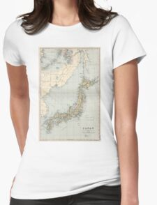 Vintage Map of Japan (1892) Womens Fitted T-Shirt