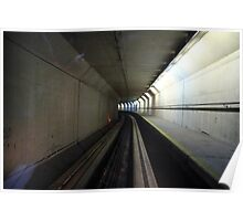 Sci-fi Tunnel, Stansted Airport, London, EU  Poster