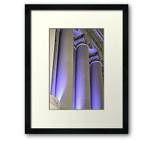 Blue Columns Framed Print
