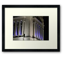 Memorial At Night Framed Print