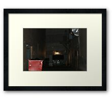 Dumpster Alley Framed Print