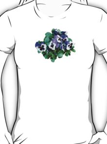 Bunch of Purple and White Pansies T-Shirt