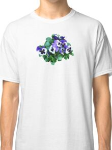 Bunch of Purple and White Pansies Classic T-Shirt