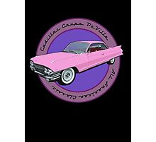 Pink Cadillac - Classic American Retro Car  Photographic Print