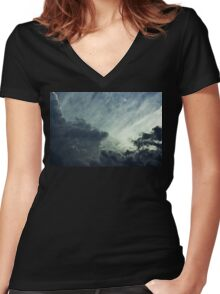 Partly Cloudy VIII Women's Fitted V-Neck T-Shirt