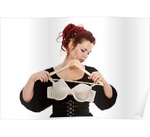 Young woman wearing bra Poster