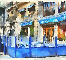 Cafe in Barcelona by yumas