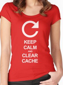 Keep calm and clear cache Women's Fitted Scoop T-Shirt