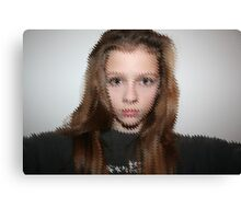 Distorted Face Canvas Print