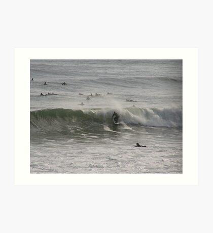 Surfing in Newport RI Art Print