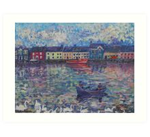 Swans on the Galway Shore Art Print