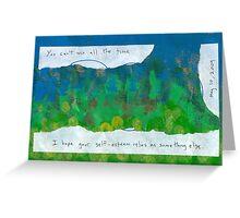 Self-Esteem Greeting Card
