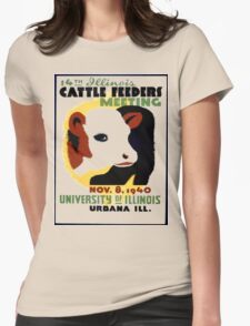 Cattle Feeders Meeting Womens Fitted T-Shirt
